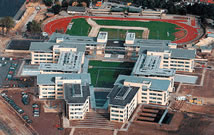 The campus buildings were massed to ensure narrow floorplates that would  enable daylighting and views.